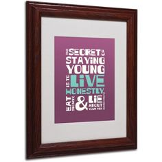 Trademark Fine Art Live Honestly II Canvas Art by Megan Romo, Wood Frame, Size: 16 x 20, Multicolor