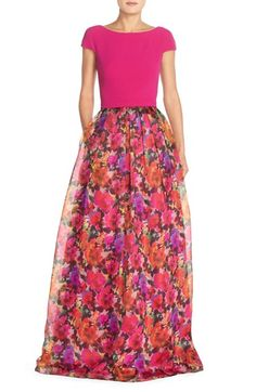 Theia Silk Skirt Ballgown