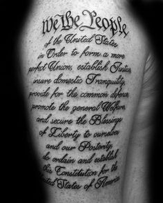 Mens We The People United States Arm Tattoos