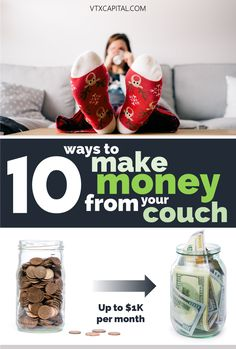 Feeling motivated to make extra money but don't necessarily want to leave the couch? We've got you covered, with this list of 10 simple ways to make money from home. Put on some coffee and let's do this!