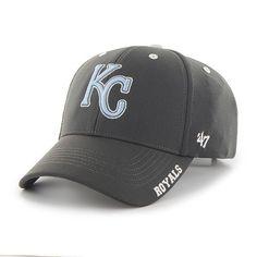 KANSAS CITY ROYALS KC MLB BASEBALL CHARCOAL CONDENSER ADJUSTABLE HAT/CAP NEW #KansasCityRoyals