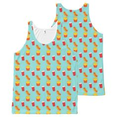 Fast Food All-Over Tank Top All-Over Print Tank Top Tank Tops