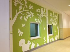 1 of 2 wall mural at the FDA Child Care Center in Silver Spring by Maryland Signs and Graphics.