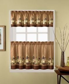 Incroyable CHF Wines 36 Window Tier U0026 Valance Set Bedding. Curtain ValancesCurtain  PanelsTier CurtainsCafe CurtainsKitchen ...