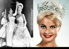 Marlene Schmidt came to fame as winner of the 1961 Miss Universe pageant. Later she had a career in the movie industry. Beautiful Inside And Out, Most Beautiful, Dead Gorgeous, Miss Univers, Lara Dutta, Jennifer Hawkins, Beauty Contest, Miss Usa, Tiaras And Crowns