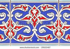 Photo about Decorative turkish tiles on a wall. Image of abstract, mosaics, flowers - 9698482 Islamic Motifs, Islamic Tiles, Islamic Patterns, Islamic Art, Turkey Art, Turkish Tiles, Bohemian Pattern, Tile Art, Religious Art