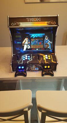 Diy Arcade Cabinet, Arcade Console, Consoles, Mini Arcade Machine, Arcade Bartop, Mame Cabinet, Rasberry Pi, Raspberry Pi Projects, Game Room Design