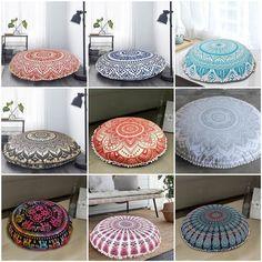 Indian Meditation Floor Cushion Cover, Large Floor Cushion Cover, Mandala Cushion Cover, Indian Floor Pillow Cushion, Round Floor Cushion