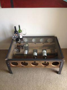Wine Rack Coffee Table   Sonder Mill