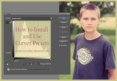 How to install and use curves presets in PSE and Photoshop