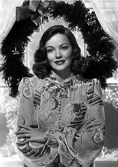 Gene Tierney - Vintage Christmas in Hollywood photo