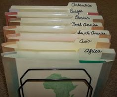 Montessori Trails - Our Montessori Path Through Life: Continent Folders - Primary Montessori