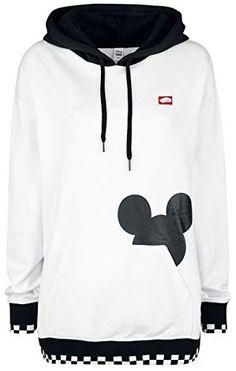 3922e0321d167 Vans Disney Checkerboard Mickey Jersey con Capucha Mujer Blanco S