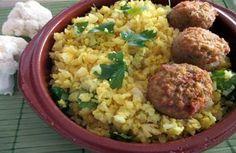 Riz de chou-fleur au curry Weight watchers, une recette légère facile et simple à réaliser pour accompagner un plat de viande ou de poisson.