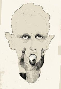 Simon Prades - Concept drawing of Assad