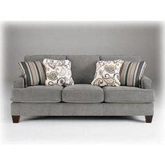Nebraska Furniture Mart – Ashley Casual Gray Sofa