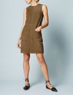 Sienna Suede Tunic Dress WH995 Clothing at Boden