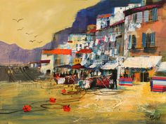 020 The Old Harbour Sorrento 18x24, mike bernard