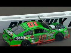 A flat front tire sent Danica Patrick into the wall only to bounce off into the oncoming #34. The impact popped her hood up as she coasted to the inside of the track blind.    For more NASCAR news, check out: http://www.NASCAR.com