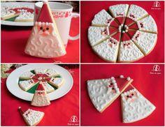 Biscotti Babbo Natale a spicchi ©Dolci da sogno ~ Santa  Cookies