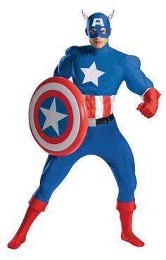 ADULT SUPERHERO HERO SUPERMAN BATMAN CAPTAIN AMERICAN RED BLACK COSTUME BOOTS