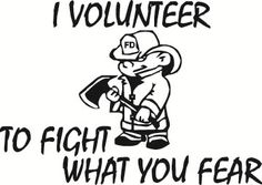 Volunteer Firefighter Fire Engine Red Bumper Sticker