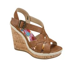 Brown wedge sandals are a summer style staple! Jamison by LIMELIGHT
