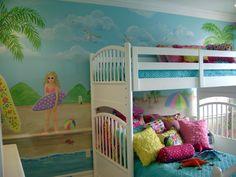 surfer girl room | Sassy Beach Mural - Children's murals in Palm Beach County ,Florida ...