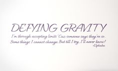 Defying Gravity Decal - Trading Phrases