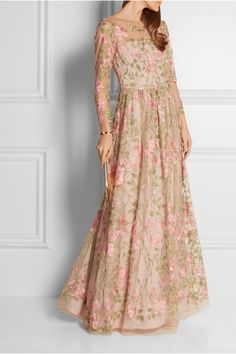 f12c9dfba55d Marchesa Notte - Embroidered tulle gown