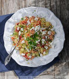 Rezept mit Bild für Couscous-Salat mit Schafskäse