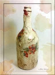 Risultati immagini per bottiglie decorate shabby
