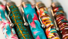 polymer pens Polymer Clay Projects, Crochet Hooks, Pens, Products, Penne, Beauty Products, Gadget