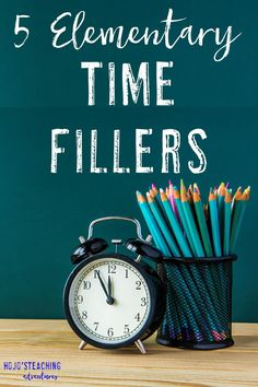 If you're a teacher, at some point you are going to need one of these elementary time fillers! With these five time fillers you're sure to find something you can use right away in your preschool, Kindergarten, 1st, 2nd, 3rd, 4th, 5th, or 6th grade classroom. Click through now to see how you can use these tomorrow!