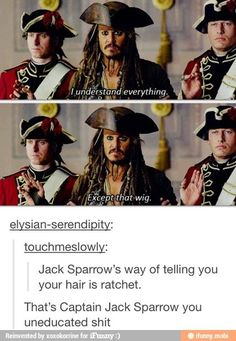 That's Captain Jack Sparrow