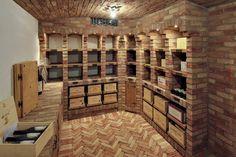 Shipping Wine To Indiana Stone Kitchen, Rustic Kitchen, Kitchen Decor, Home Wine Cellars, Wine Cellar Design, Brickwork, Wine Storage, Caves, Interior Design Kitchen