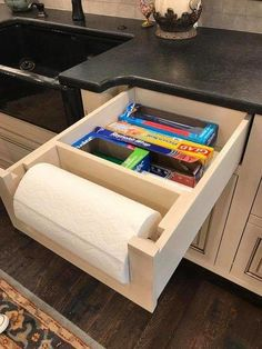 Custom Kitchen Storage Ideas #homerenovationideas