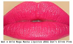 Makeup Tips, Beauty Reviews, Tutorials | Miss Natty's Beauty Diary Blog: Wet n Wild Don't Blink Pink Mega Last Matte Lipstick Review!