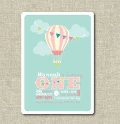 This is the perfect cute printable Invitation for your little ones Birthday Party, Colours can be altered to suit.   PLEASE NOTE: You are