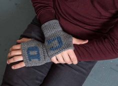 Grandfather Gift Knit Fingerless Mittens Mens Initial Gloves Grey Mens Gloves Personalized Gloves For Him Winter Gloves Warm Mens Gloves by Nothingbutstring on Etsy https://www.etsy.com/listing/205501195/grandfather-gift-knit-fingerless-mittens