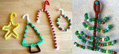 Albero di Natale con addobbi di perline. Speciale Natale - www.Sottocoperta.net