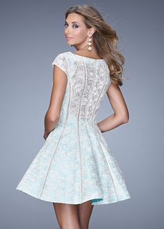 La Femme 21249 Lace Illusion Cocktail Dress #CrushingonRissyRoos