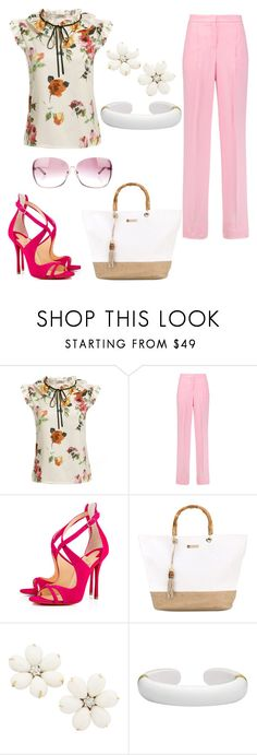 """""""Untitled #407"""" by ssuuzzyyq ❤ liked on Polyvore featuring Emilio Pucci, Christian Louboutin, Heidi Klein, Margot McKinney and Chrome Hearts"""