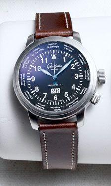 Steel Navigator Worldview watch ($9,900) by Glashütte