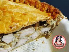 Creamy Chicken and Mushroom Pie   Mutherfudger #pie #chicken #recipe #dinner