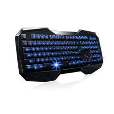 Teclado Vktech Super USB Backlit Gaming Keyboard LED Illuminated Ergonomic Multimedia #Teclado