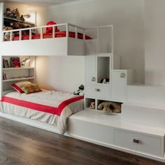 teenage girls beds with shelves and trundle   ... Beds With Stairs Ikea, Bunk Beds With Stairs For Teenage Girls