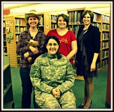 "Shelby Librarians dressed up for ""Character Day"""