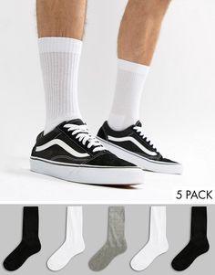 ASOS   5 пар спортивных носков ASOS DESIGN