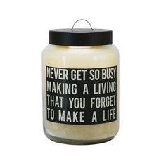 Words To Live By Candle | dotandbo.com   #DotandBoSummer